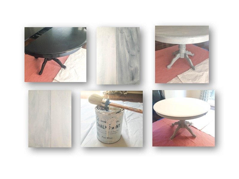 Dining Room table makeover 2