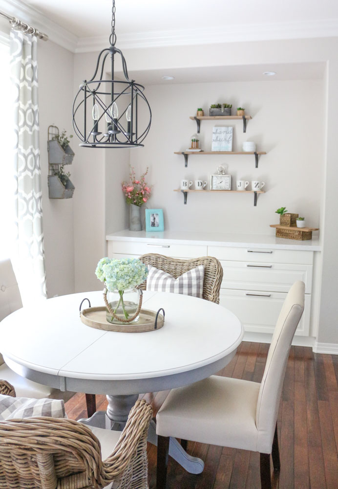 Modern Farmhouse Dining Room Table DIY Light Lane