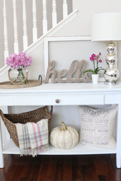 Fall Home Tour with a Non-Traditional Color Palette