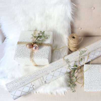 Gorgeous White and Gold Presents for the Holidays
