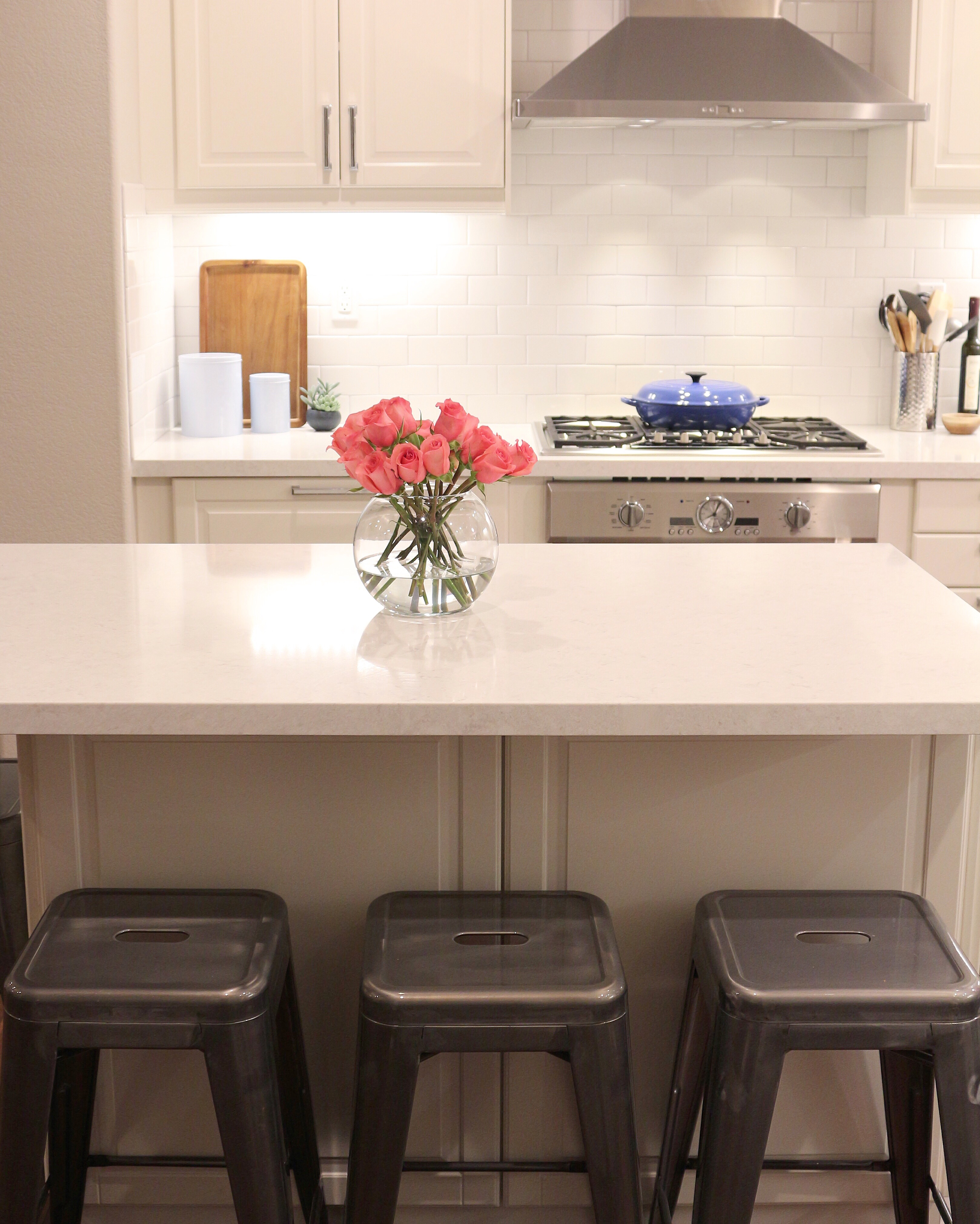 How to add cabinet lighting how to add height to your for Adding height to kitchen cabinets