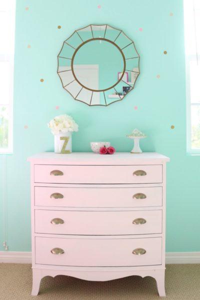 Pink Dresser Transformation