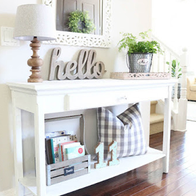 The Story Behind the White Chalk Painted Table
