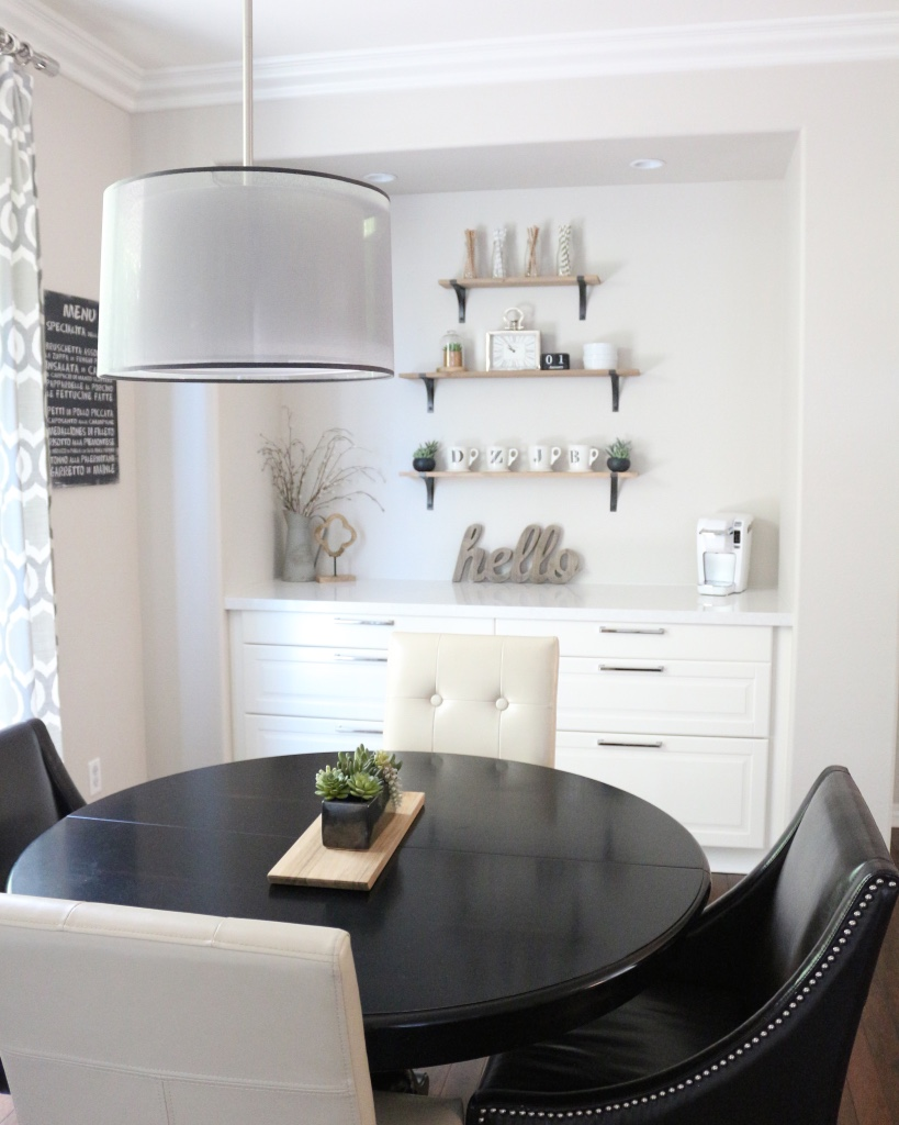 Modern Black And White Dining Room 1111 Light Lane