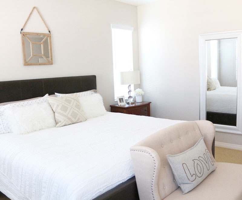 Master Bedroom Refresh: Upholstered Headboard Update