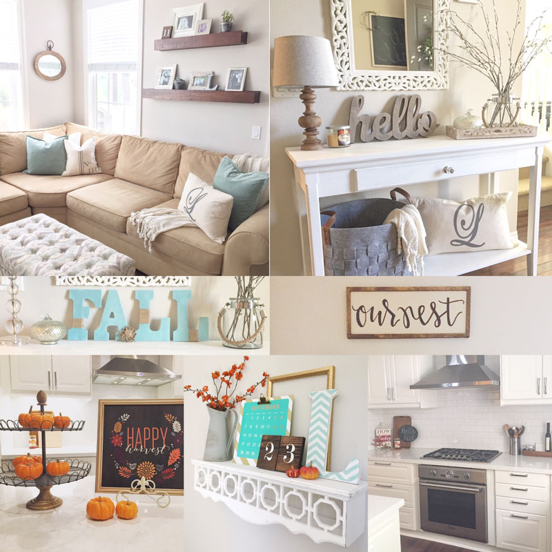 5 ways to add fall decor to your home light lane for Modern fall home decor