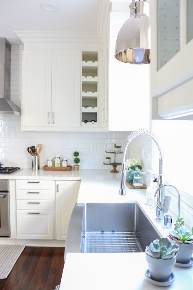 White IKEA Modern Farmhouse Style Kitchen