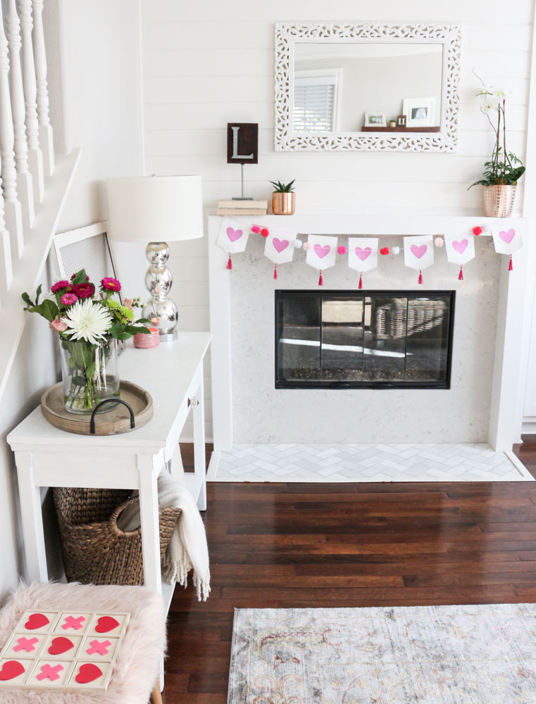 modern-simple-valentines-mantel-decor-1111lightlane (1 of 1)