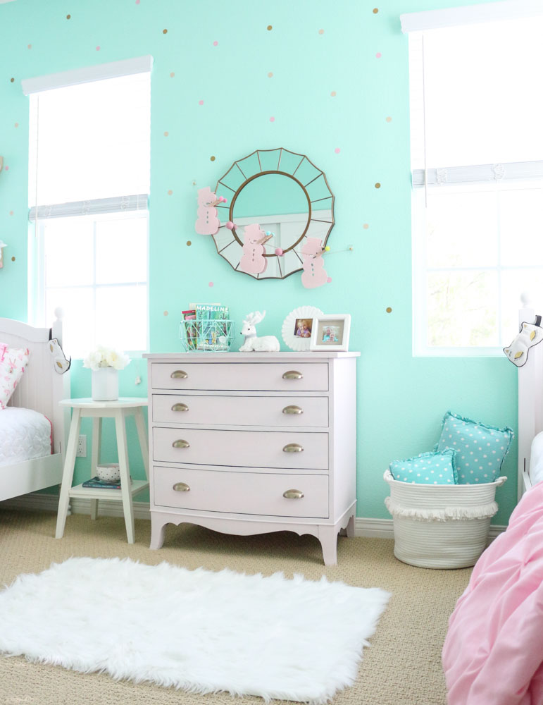 pink-vintage-dresser-girls-shared-bedroom-decorated-for-winter-1111-light-lane-1-of-1