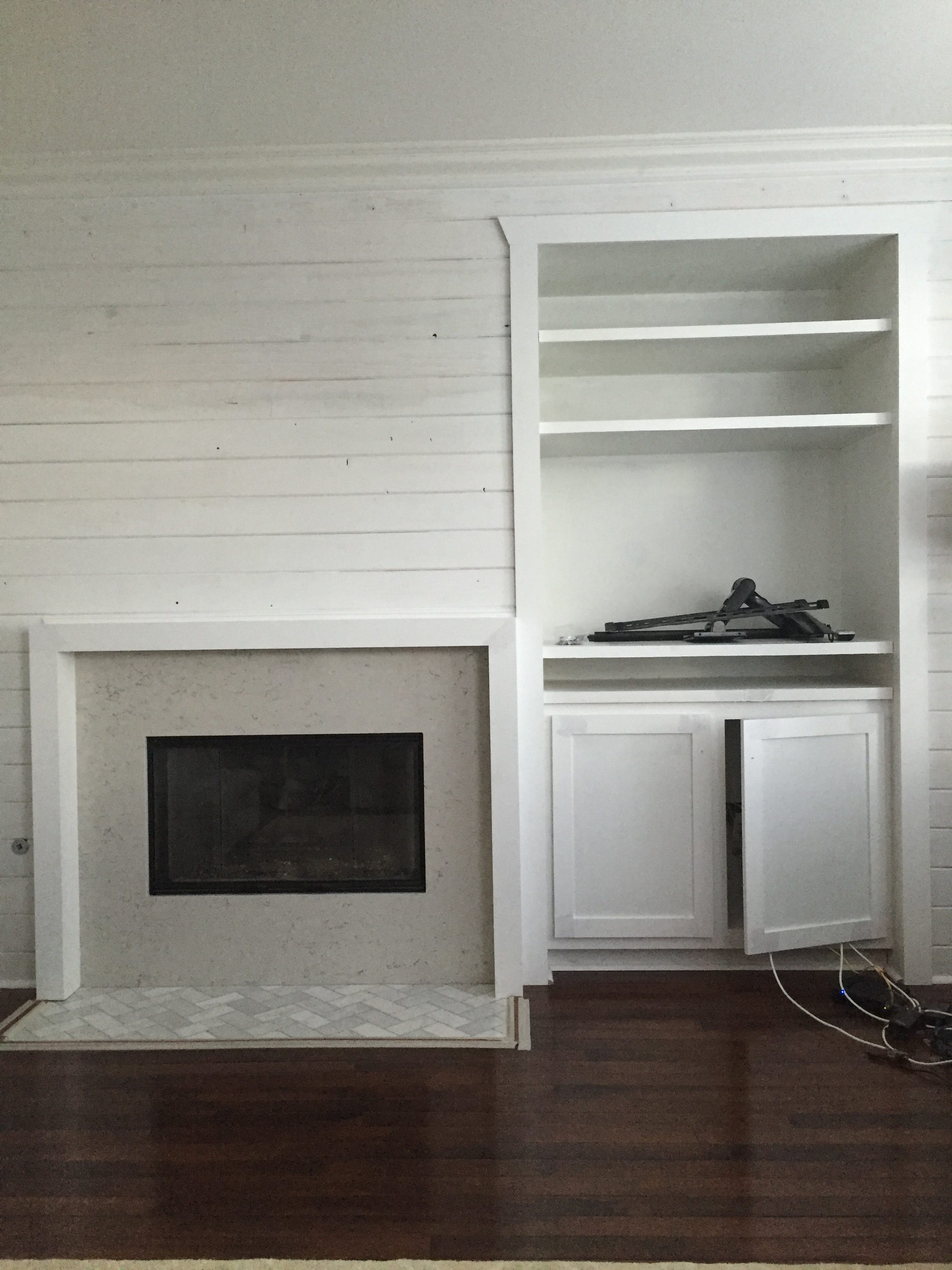 tips for designing and renovating a tract home fireplace and media