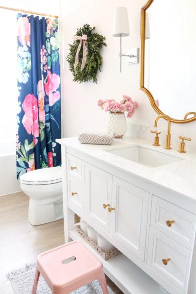 Bright White Chic Bathroom Renovation