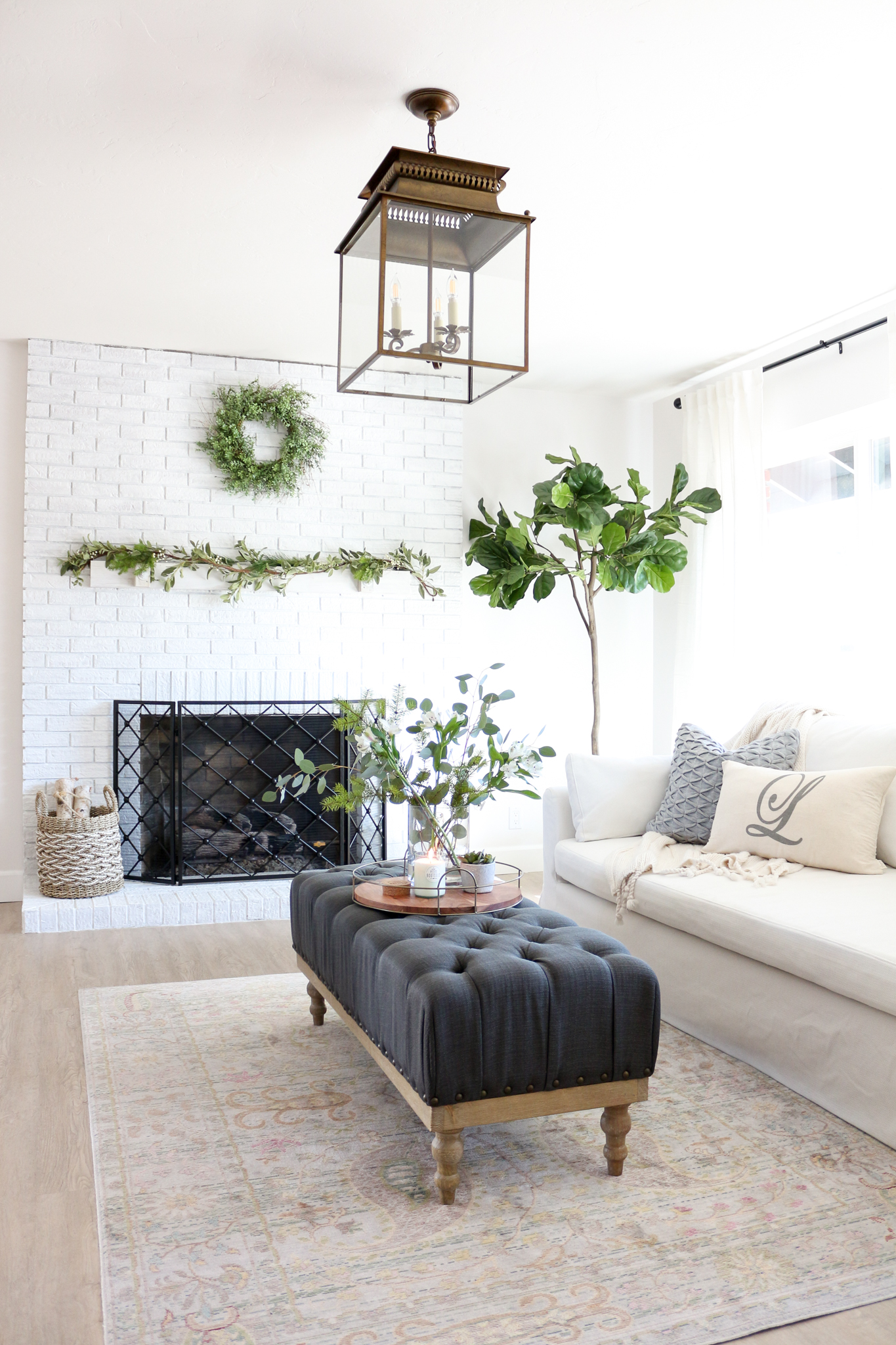 Cozy Hygge Modern Farmhouse Style Living Room