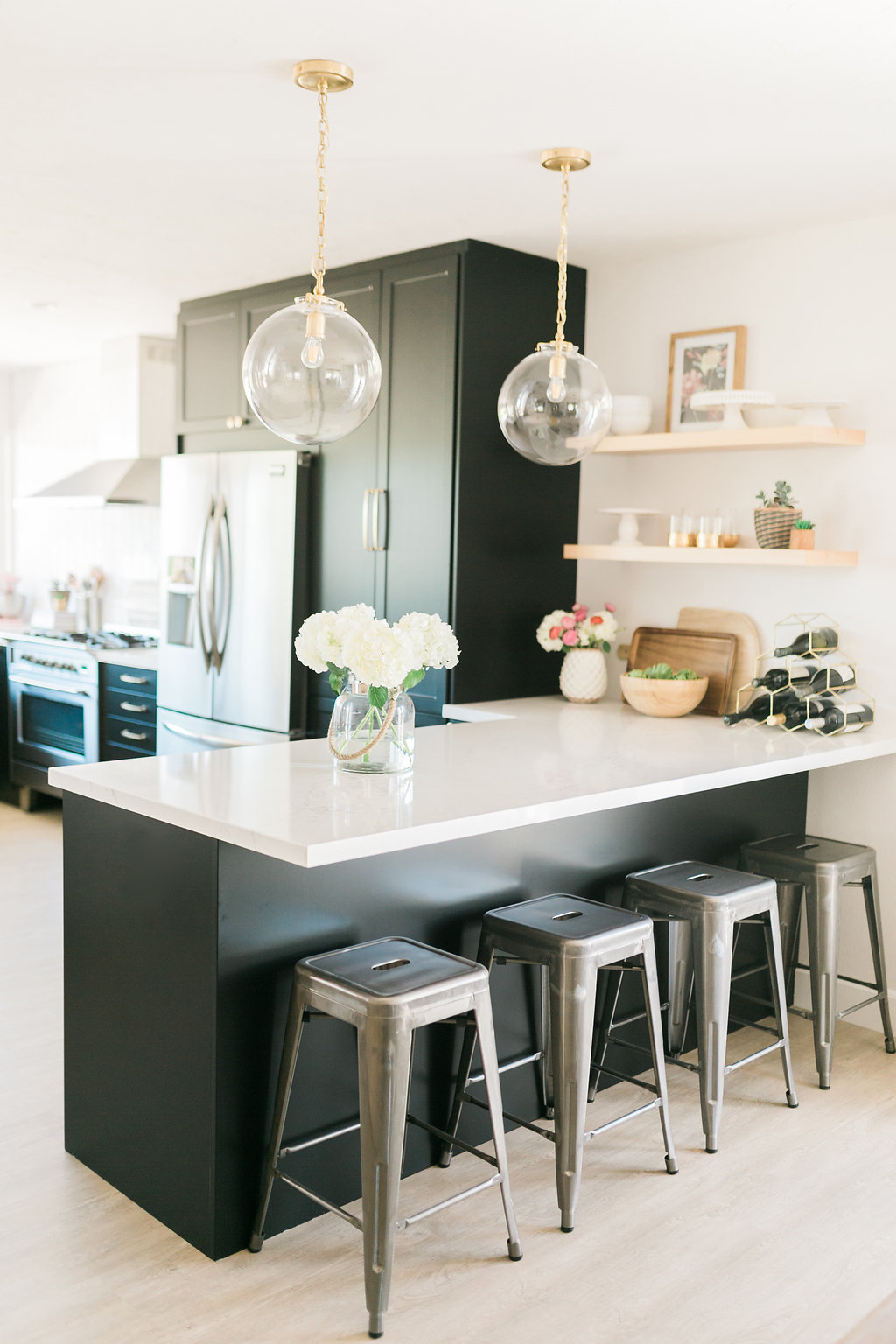 Classic Black: Bright and Light IKEA + Semihandmade Kitchen