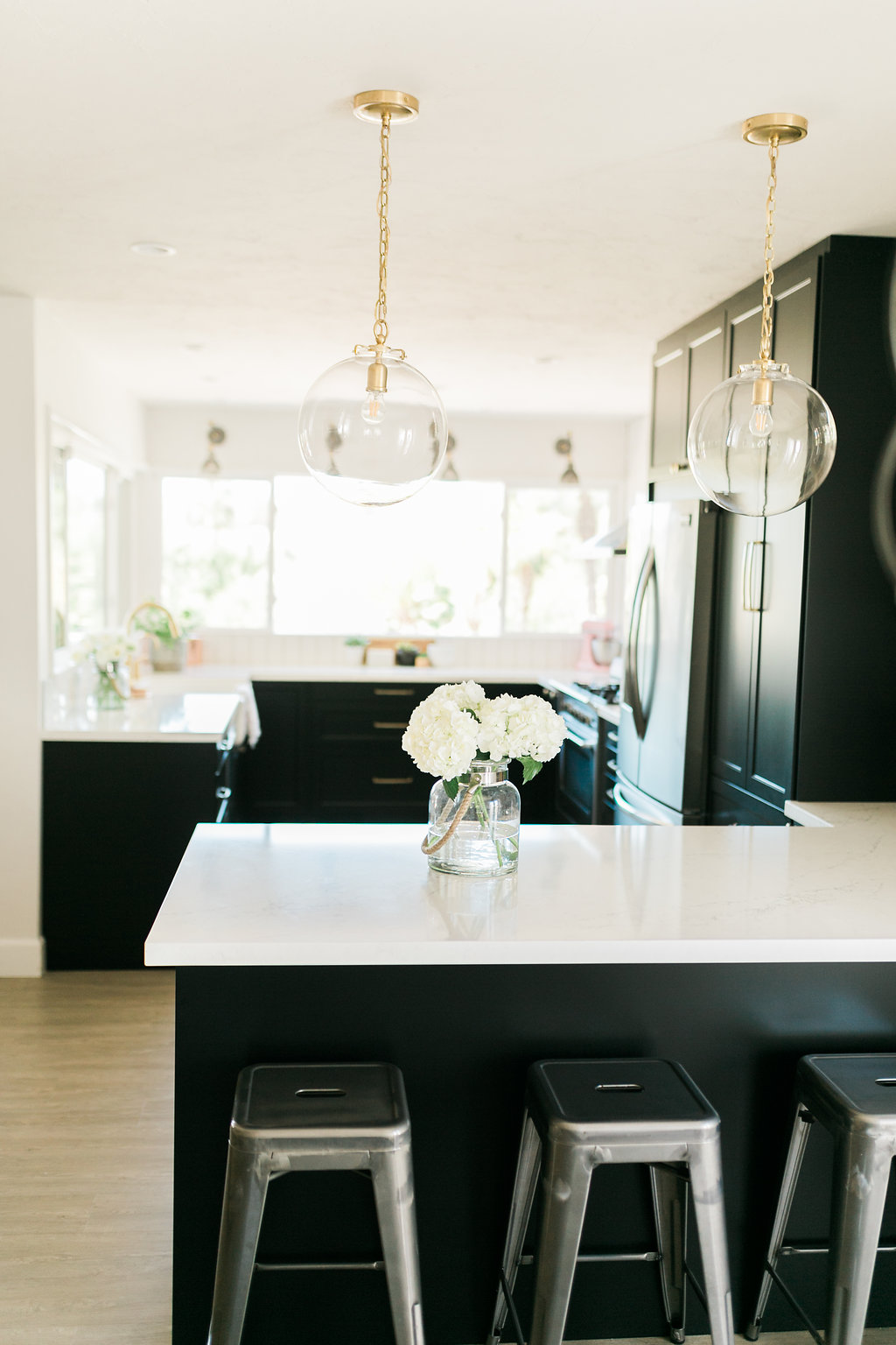 Would You Use Heavy Or Light Mineral For A Kitchen : Classic Black: Bright and Light IKEA + Semihandmade Kitchen