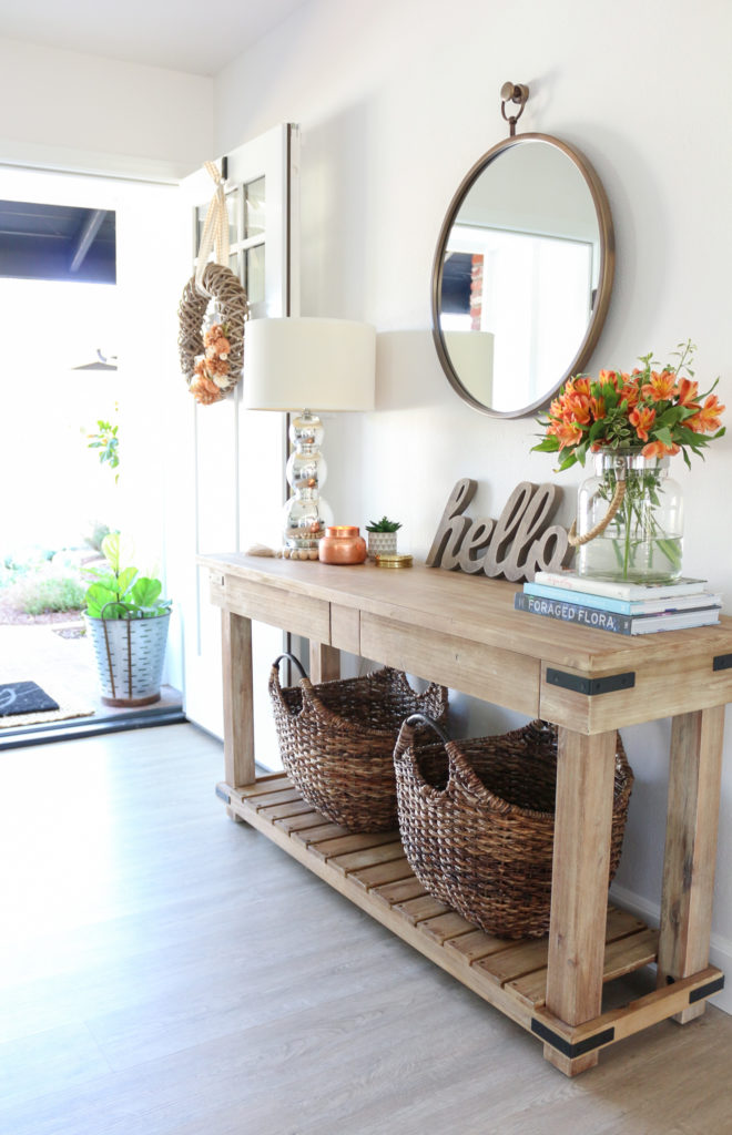 interiors decorations fair simple home design | Fall Entryway Decor: Easy + Simple Ways to Welcome Fall ...