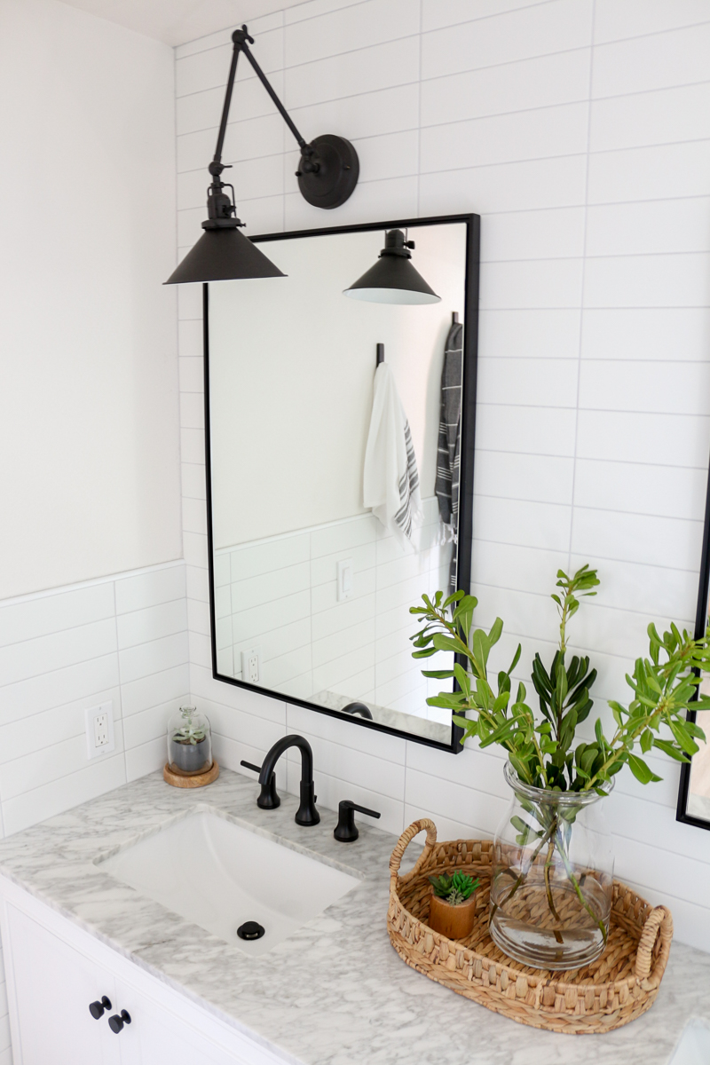 Modern Farmhouse Master Bathroom Renovation With Delta The Process Reveal 1111 Light Lane