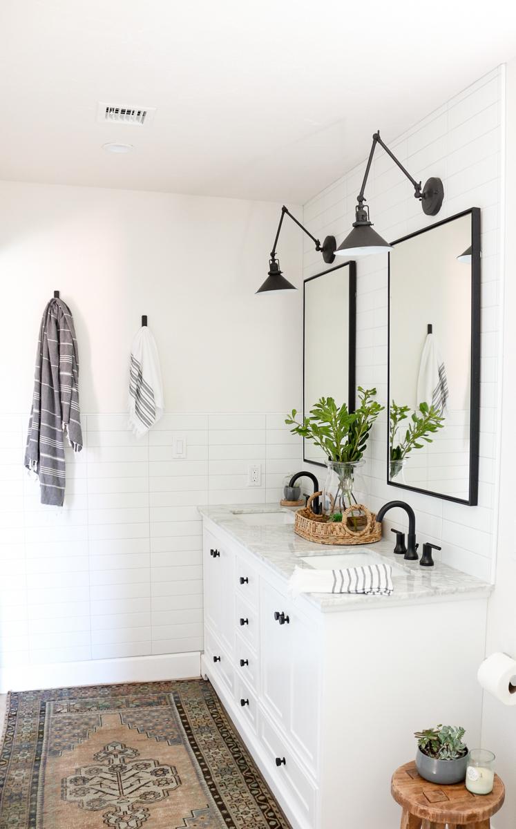 Modern Farmhouse Master Bathroom Renovation With Delta The Process Reveal 1111 Light Lane