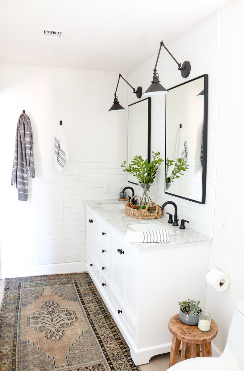 Modern Farmhouse Master Bathroom Renovation with Delta ... on Modern Farmhouse Shower  id=88094