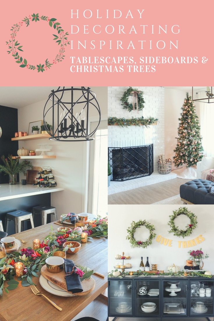 Holiday Decorating Inspiration: Tablescapes + Sideboards + ...