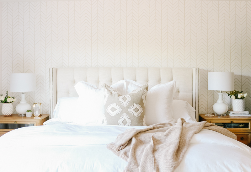 Neutral + Cozy Master Bedroom with Wallpaper: The Reveal ...