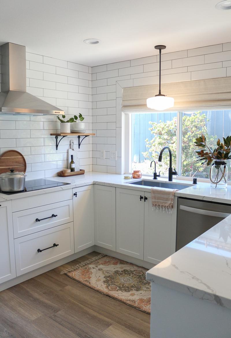 White Semihandmade Kitchen Renovation Before After 1111