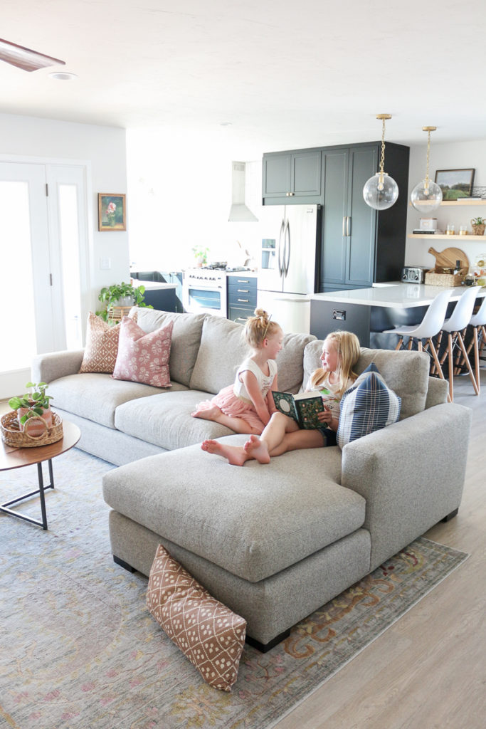 Family Room Refresh With Room & Board + Metro Sofa Review - 1111 Light Lane