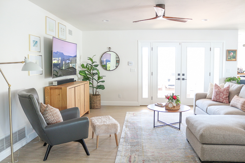 Family Room Refresh With Room Amp Board Metro Sofa Review